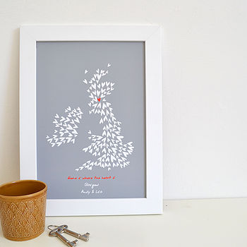 Personalised 'Home Is Where The Heart' Print