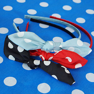 Spotty Bow Knot Alice Band