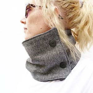 Contemporary Tweed Neckwarmer Scarf