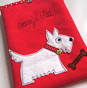 Personalised Scotty Dog iPad Case - bags & purses
