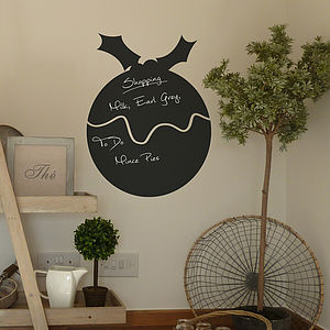 Christmas Pud Chalkboard Sticker - christmas wall stickers