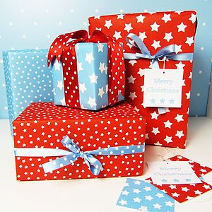 Star Double Sided Wrapping Paper - wrapping paper