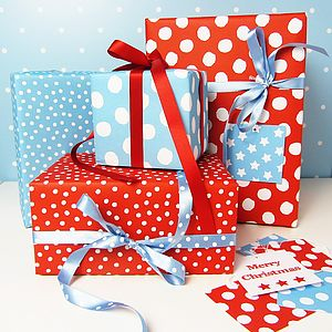 Spotty Double Sided Wrapping Paper - ribbon & wrap