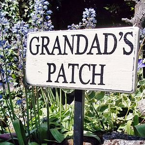 Personalised Vintage Garden Sign With Stake - decorative accessories