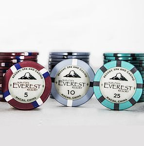 Everest Premium Ceramic Poker Chip Set - leisure