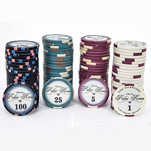 Valentino Premium Ceramic 100 Poker Chip Set
