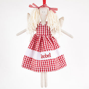 Red Gingham Angel