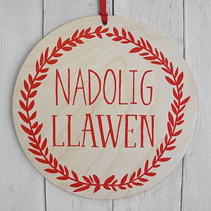 Large Nadolig Llawen Decoration