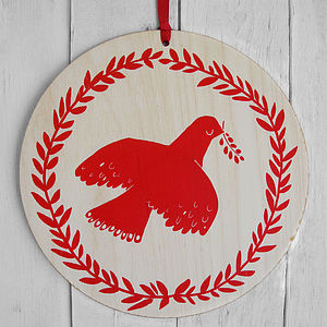 Large Christmas Dove Decoration