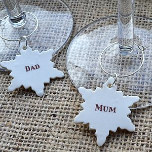 Personalised Christmas Drink Charm - home