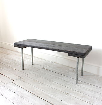 Reclaimed Scaffolding Board And Steel Bench