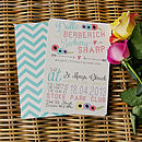 Petals And Stripes Wedding Invitation
