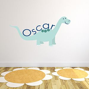 Custom Dinosaur Fabric Name Sticker - wall stickers