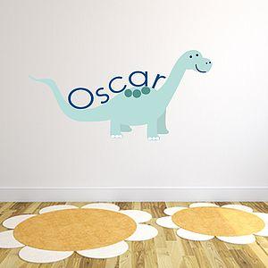 Custom Dinosaur Fabric Name Sticker - decorative accessories