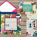 Victorian Floral Wedding Invitation