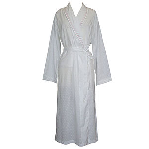White Cotton Nightgown - women's fashion