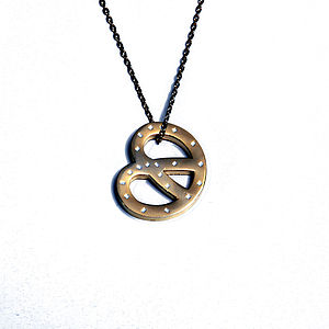 Golden Pretzel Necklace - women's jewellery
