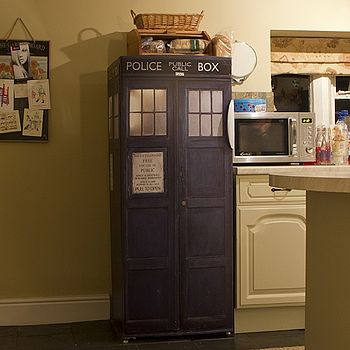Dr Who Tardis Vinyl Fridge Cover