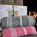 Personalised Beach Hamam Towel