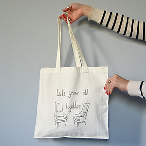 'Let's Grow Old Together' Tote Bag - bags & purses