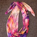 Pearly Pink Silk Cotton Female Scarf
