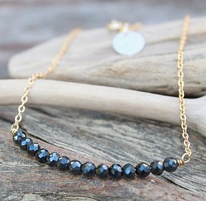 Hematite Bar Personalised Necklace - women's jewellery