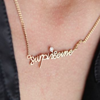 Gold Plated 'Surprise Me' Necklace