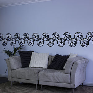 Celtic Triskel Vinyl Wall Border - wall stickers