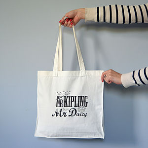 'More Mr Kipling Than Mr Darcy' Tote Bag - holdalls & weekend bags
