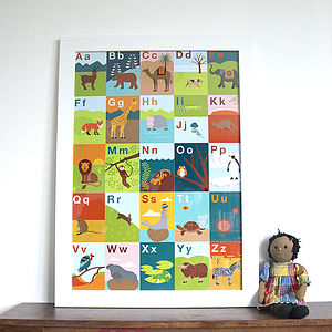 Animal Alphabet Print - children's pictures & paintings
