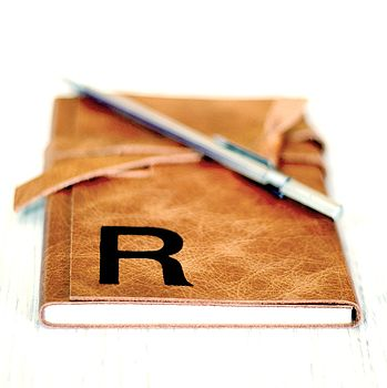 Personalised Retro Leather Journal