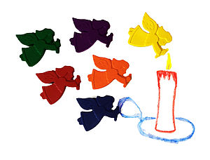 Set Of Six Angel Crayons