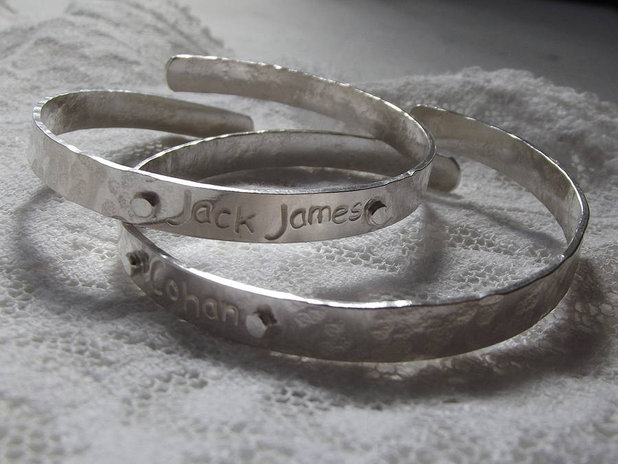 boys sterling silver christening bangle by lucy kemp silver ...
