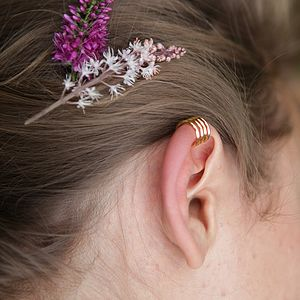 Gold Plater Ear Cuff - earrings