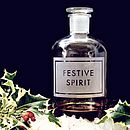 'Festive Spirit' Etched Bottle