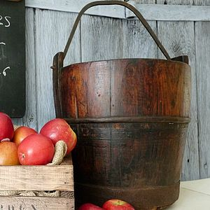 Vintage Water Pail - autumn home updates
