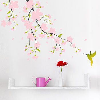 Pink Blossom Colour Wall Sticker