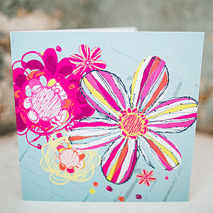 Eclectic Flowers Card