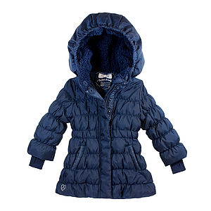Girls Down Filled Long Puffa Coat - clothing