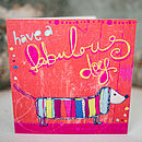 Silly Sausage Dog Card