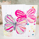 Textured Butterflies Card