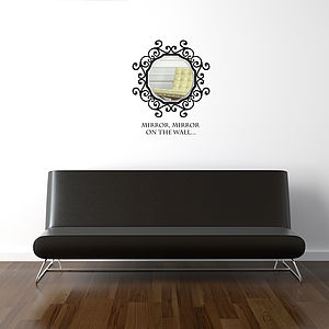 Acrylic Mirror With Baroque Wall Sticker - wall stickers