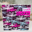 Etched Floral Birthday Card