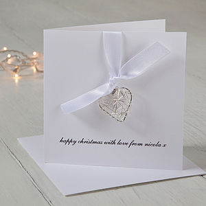 Personalised Wire Heart Christmas Card - shop by category
