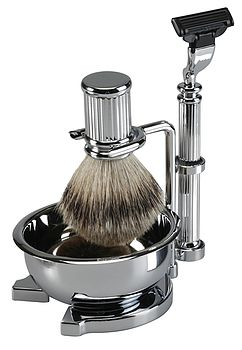 Men's Chrome Shaving Stand