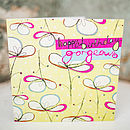 Floral Umbrellas Birthday Card