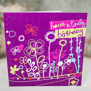 Foliage Birthday Card - birthday cards