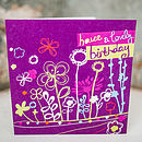 Bright Foliage Fun Birthday Card