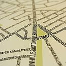 Brixton Typographic Street Map