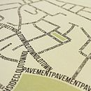Clapham Typographic Street Map